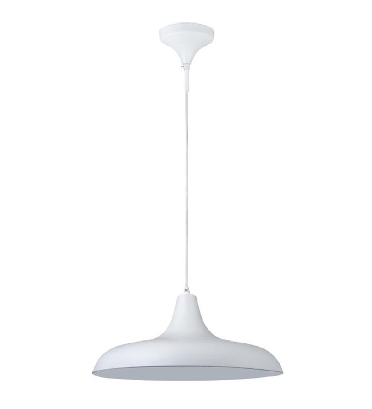 Bryne biała lampa wisząca ze srebrnym środkiem - DOSTĘPNA OD RĘKI