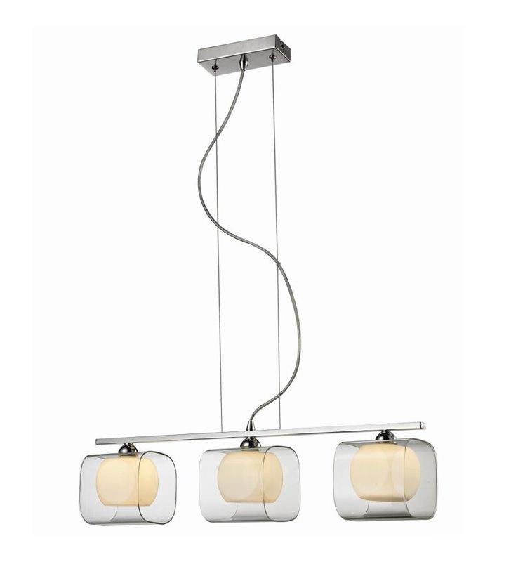 Happy potrójna lampa wisząca z podwójnymi szklanymi kloszami