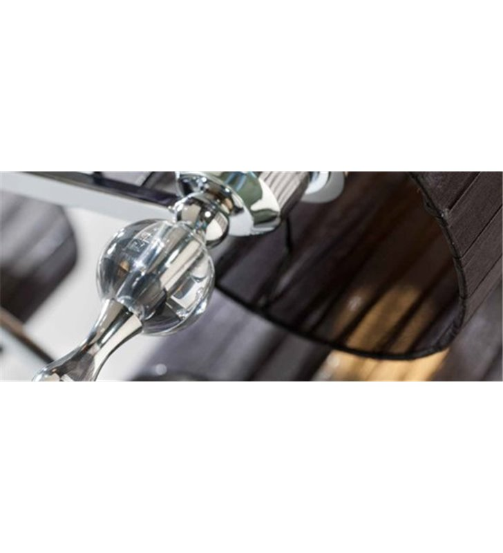 Kinkiet Impress czarny pojedynczy elegancki z materiałowym abażurem do salonu sypialni przedpokoju - OD RĘKI