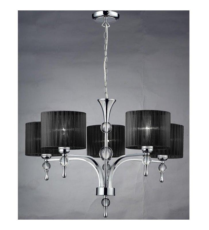 Impress czarny 5 ramienny elegancki żyrandol do salonu sypialni jadalni - DOSTĘPNY OD RĘKI