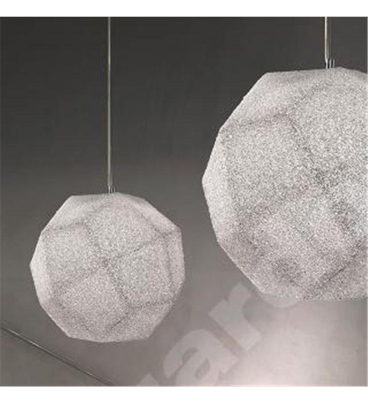 Lampa wisząca Slash z bezbarwnego akrylu o geometrycznym kształcie