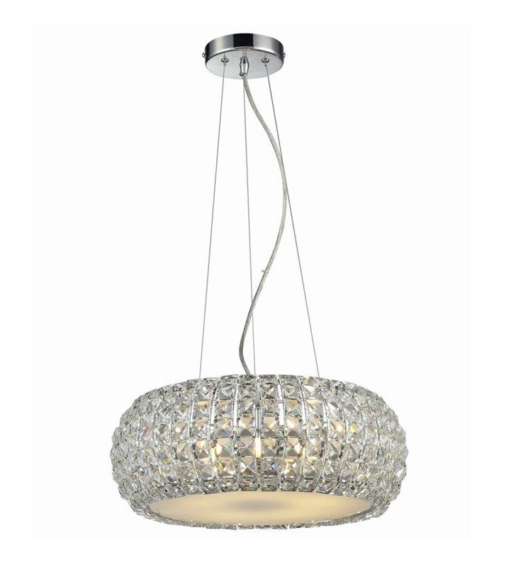 Lampa wisząca Sophia kryształowa okrągła do salonu sypialni jadalni nad stół