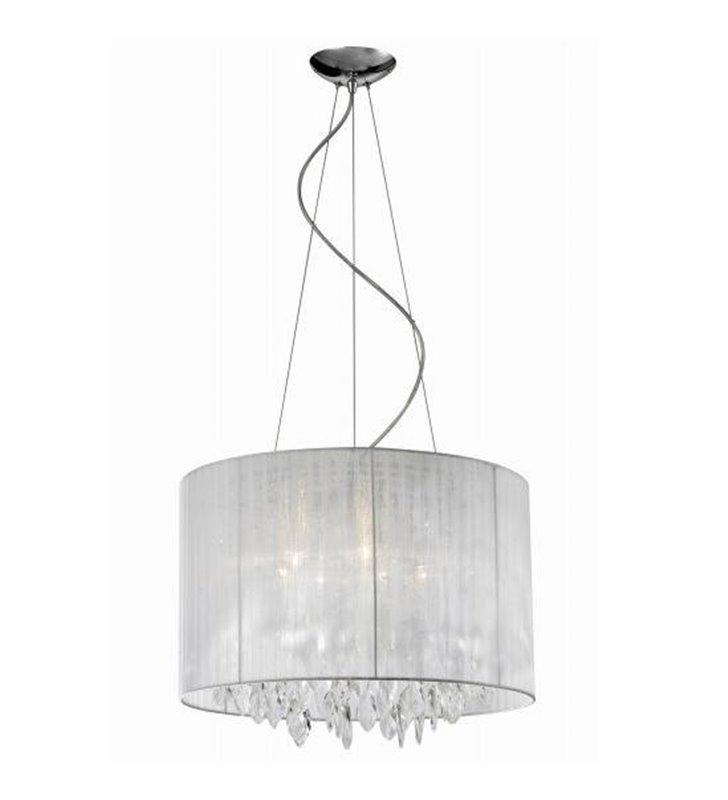 Lampa wisząca Sidney White biała dekoracyjna okrągła do jadalni salonu sypialni