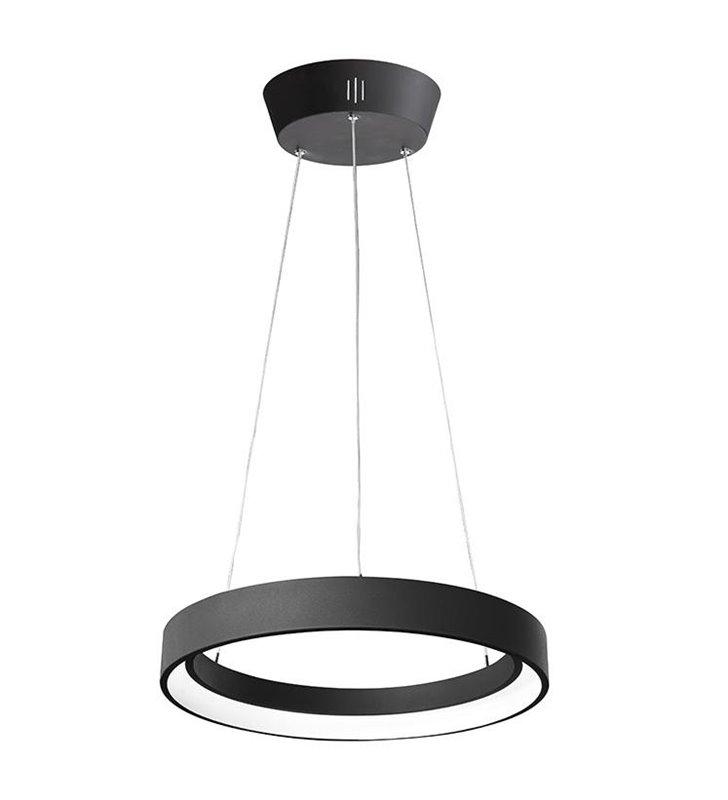 Lampa wisząca Regallo czarna obręcz LED