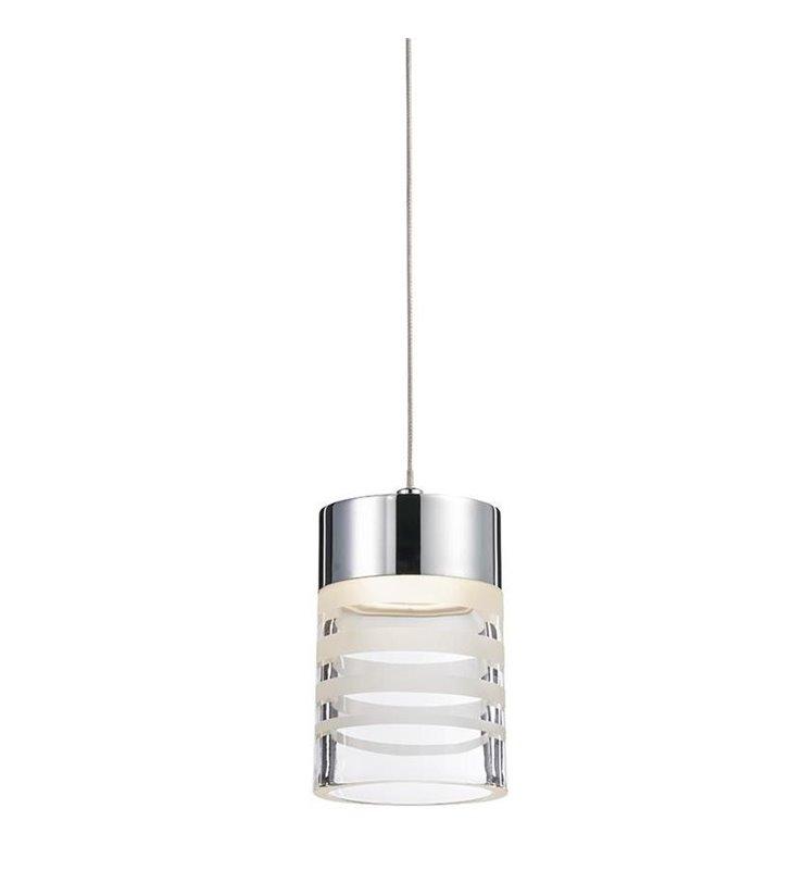 Lampa wisząca Pixy LED nowoczesna klosz w satynowane paski