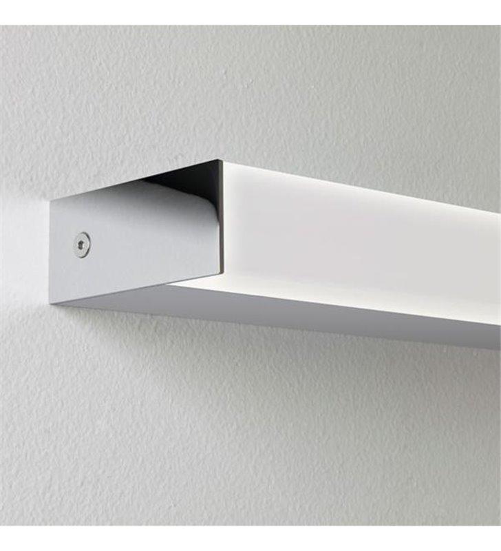 Podłużna lampa łazienkowa Sparta 900 LED chrom polerowany kanciasta