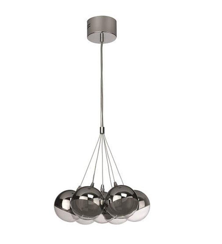 Lampa wisząca Haydn 7 szklanych okrągłych kloszy do salonu jadalni kuchni sypialni nowoczesna - DOSTĘPNA OD RĘKI