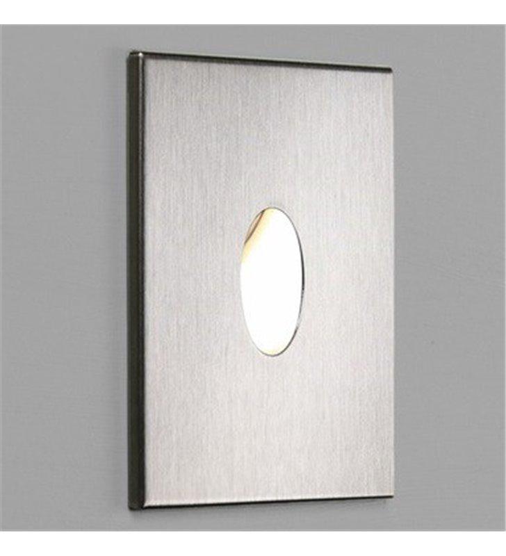 Łazienkowa kwadratowa oprawa przypodłogowa ścienna do wbudowania Tango LED stal szczotkowana