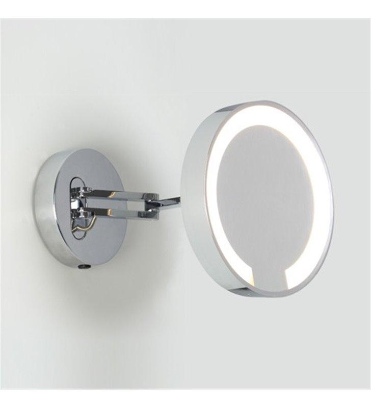 Lustro z oświetleniem do łazienki Catena 5 krotne powiększenie