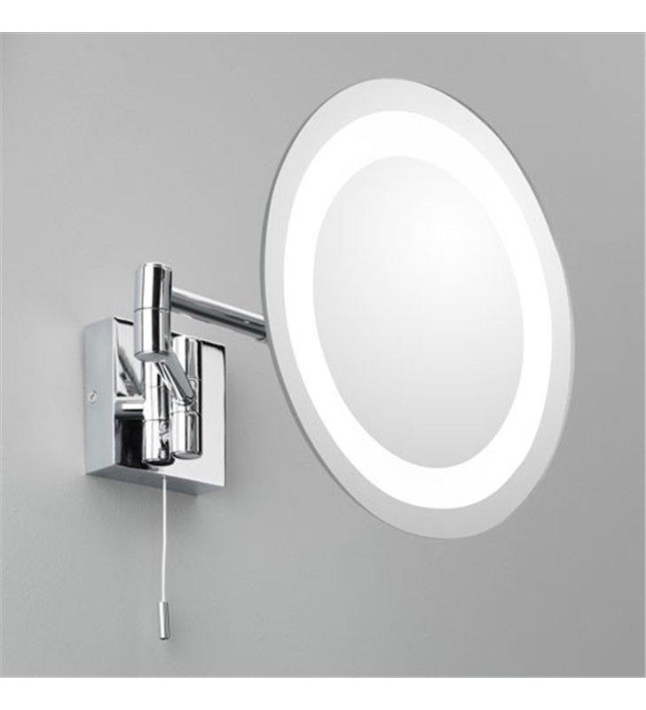 Lusterko łazienkowe do makijażu z oświetleniem Genova 3 krotny zoom