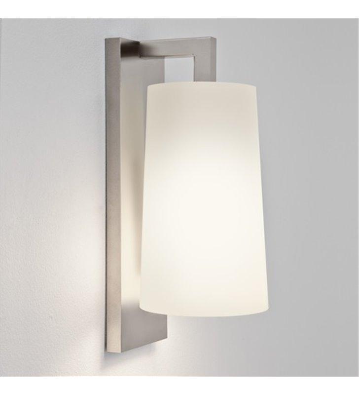 Lampa łazienkowa Lago nikiel mat montaż z boku lustra IP44 klosz szklany