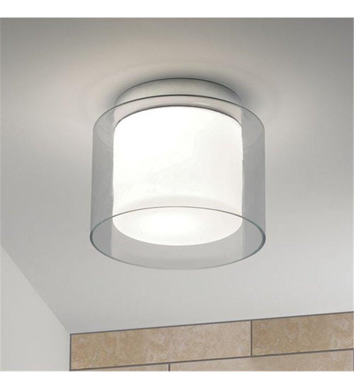 Plafon łazienkowy Arezzo podwójne szkło nowoczesny średnica 23cm