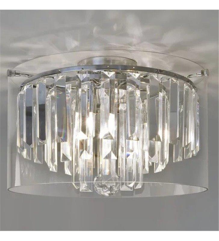 Kryształowy plafon łazienkowy Asini 35cm chrom wysoka jakość