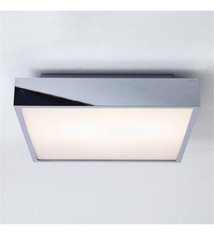 Kwadratowa plafoniera łazienkowa Taketa LED 40cm chrom
