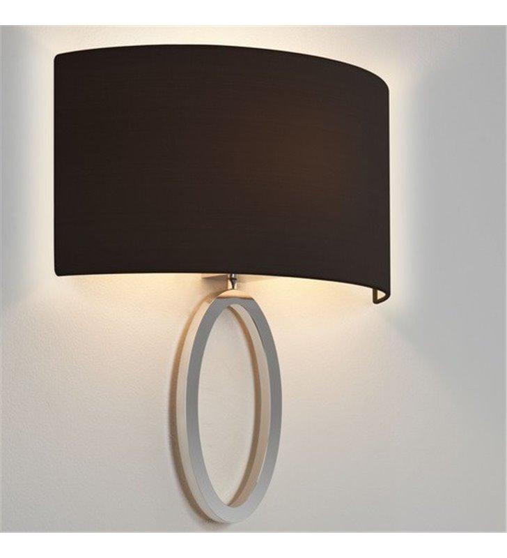 Kinkiet Lima chrom czarny abażur elegancki stylowy do salonu sypialni jadalni na korytarz