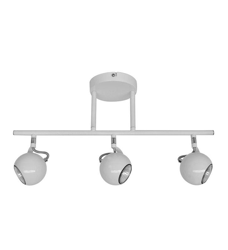 Lampa sufitowa Barker potrójna nowoczesna biała klosze kule