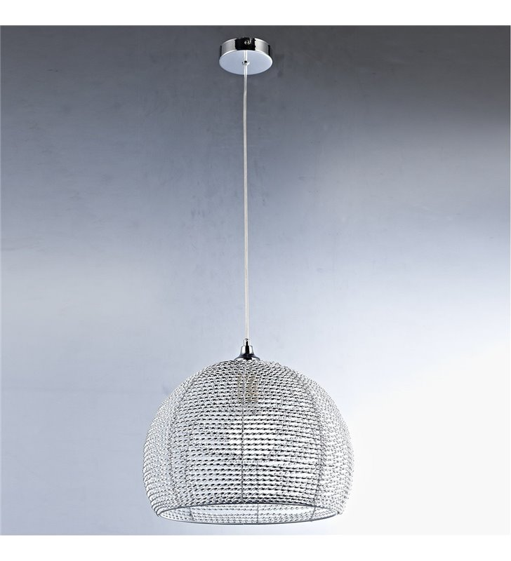 Lampa wisząca Justin połączenie chromu z aluminium nowoczesna metalowa
