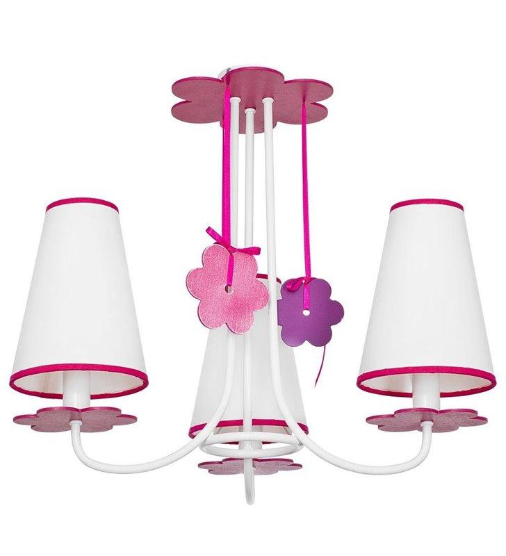 Lampa sufitowa żyrandol Praslin do pokoju dziecka dla dziewczynki- DOSTĘPNA OD RĘKI