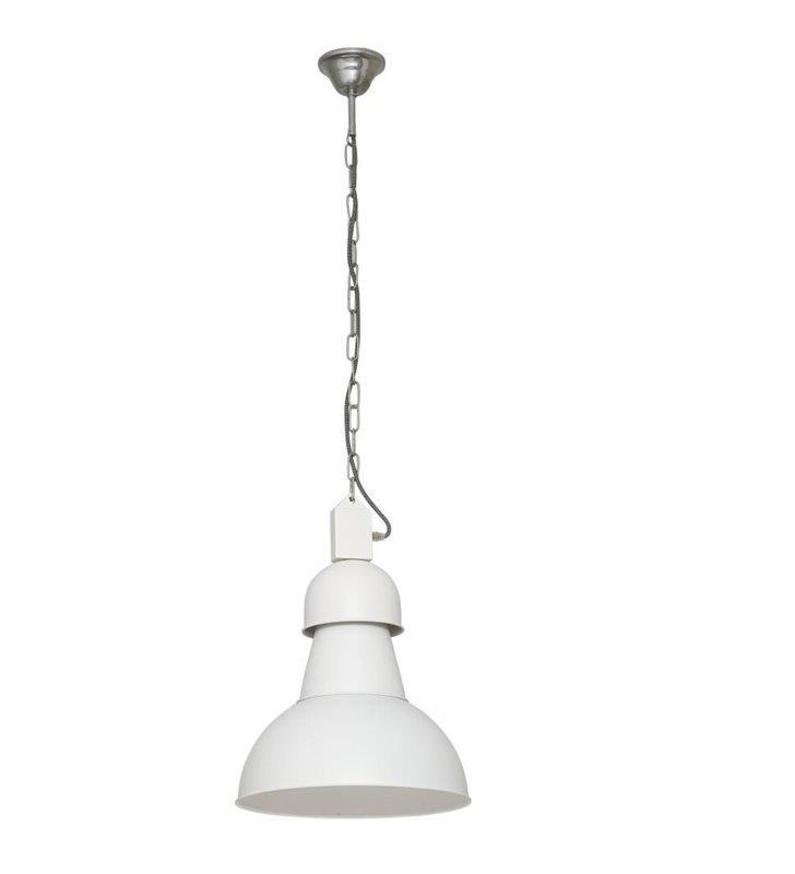 Loftowa biała lampa wisząca High-Bay długi łańcuch