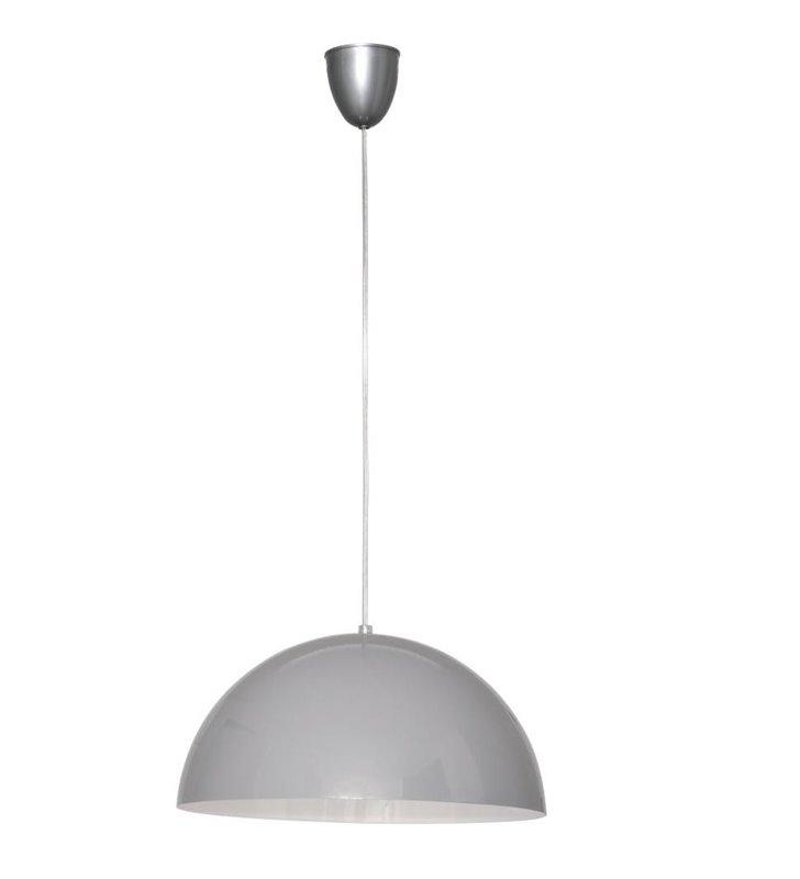 Lampa wisząca Hemisphere Gray szara metalowa okrągła kopuła