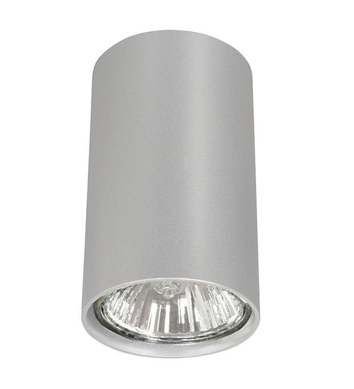 Mała lampa sufitowa downlight  Eye srebrna walec