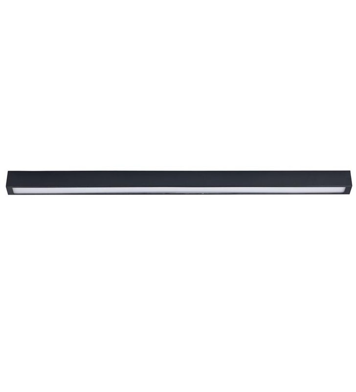 Plafon Straight Graphite LED wąski w kolorze grafitowym - DOSTĘPNY OD RĘKI