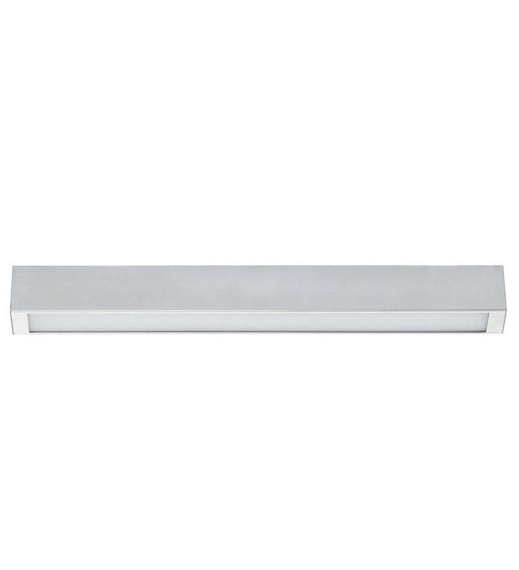 Plafon Straight LED Silver wąski podłużny w kolorze srebrnym w nowoczesnym stylu