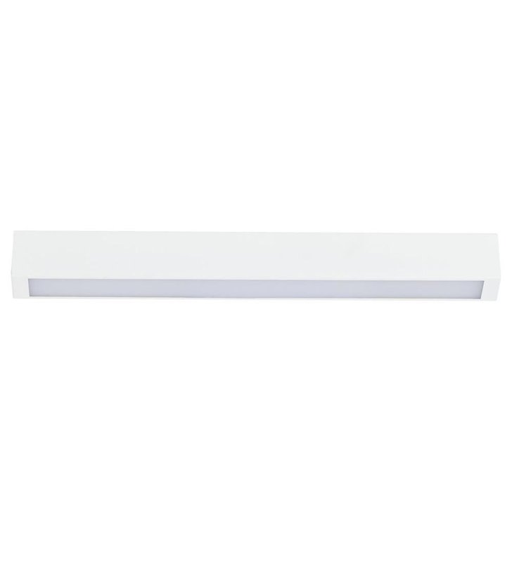 Plafon Straight White LED bialy podłużny wąski styl nowoczesny
