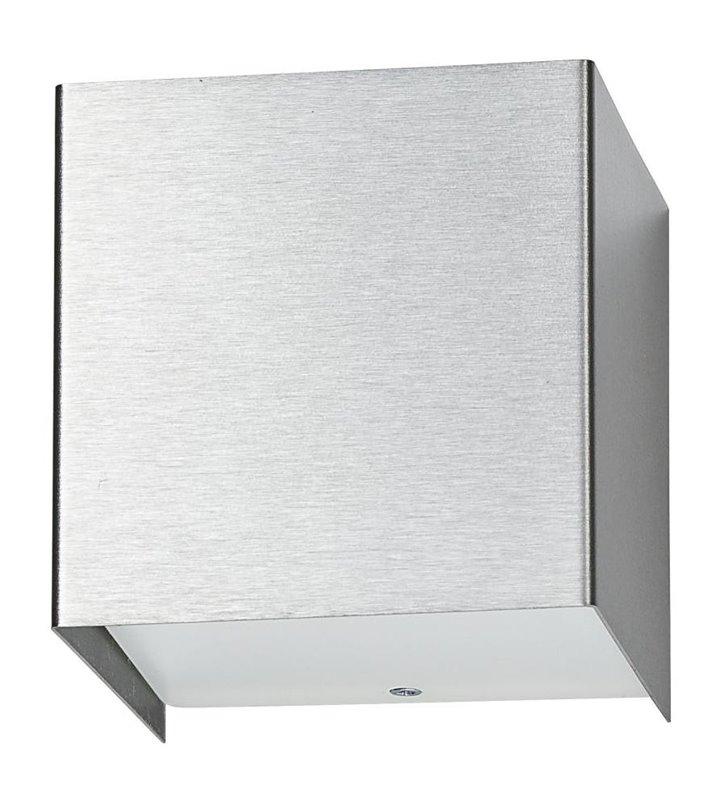 Kinkiet Cube srebrny nowoczesny kostka