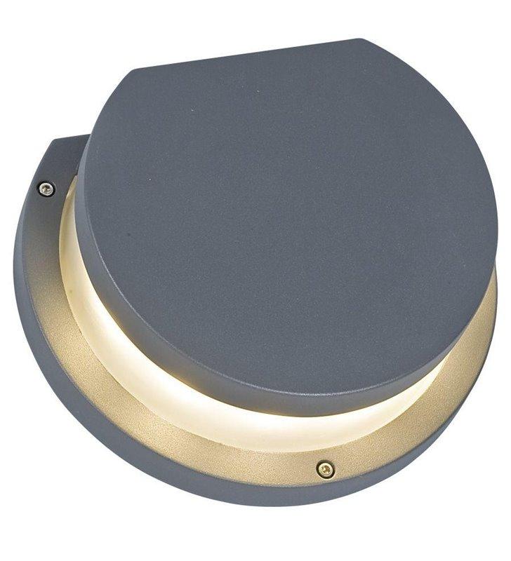Lampa ogrodowa ścienna Kibo szara nowoczesna okrągła IP54 E27