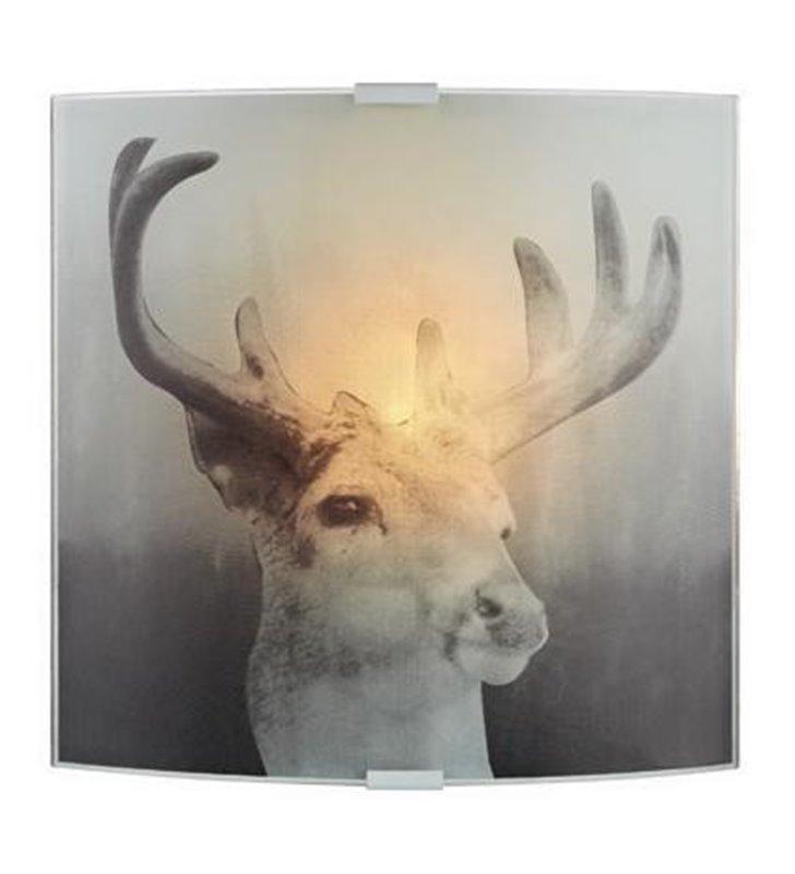 Kinkiet Deer szklany z jeleniem