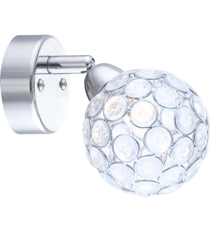 Kinkiet kula Spirit mały z akrylowymi kryształkami - DOSTĘPNY OD RĘKI