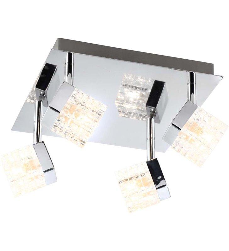 Lampa sufitowa Baron 4 punktowa klosze zdobione szklane kostki - DOSTĘPNA OD RĘKI