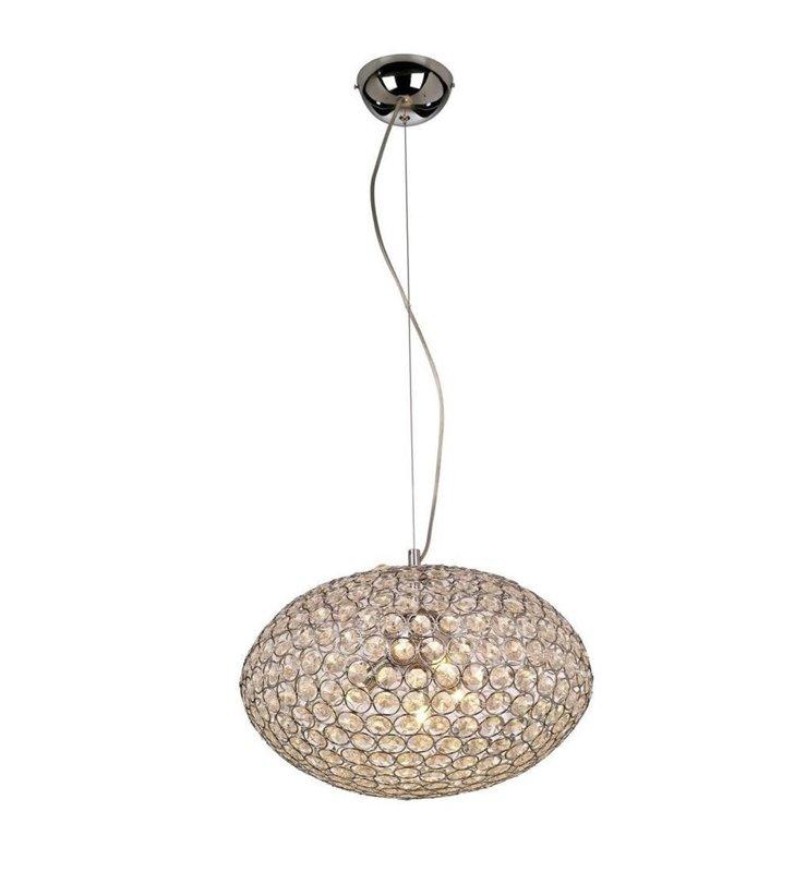 40cm lampa wisząca Rosa z kryształami do salonu sypialni jadalni pokoju dziennego gościnnego