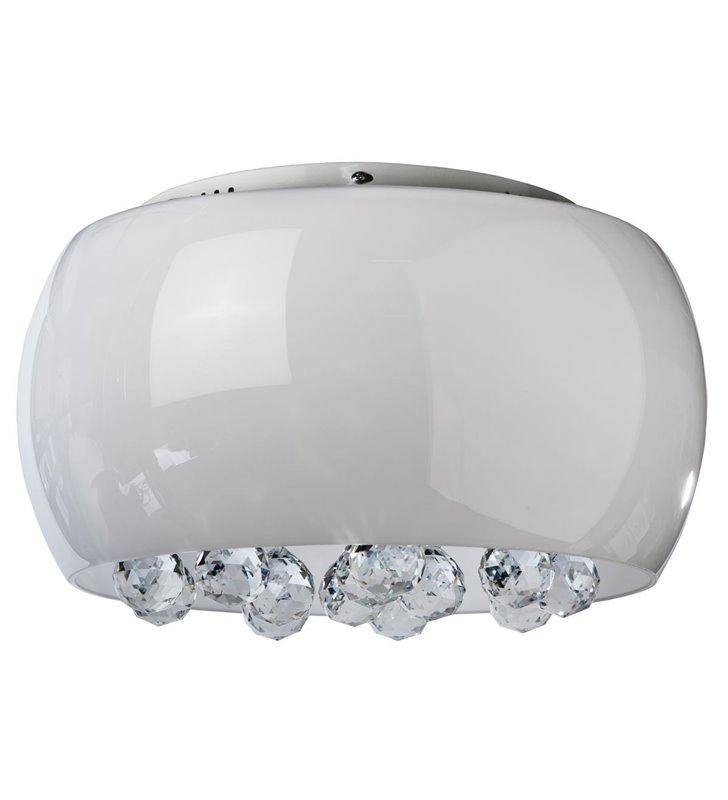Plafon Quince 400 biały szklany klosz z dekoracyjnymi kryształowymi kulkami