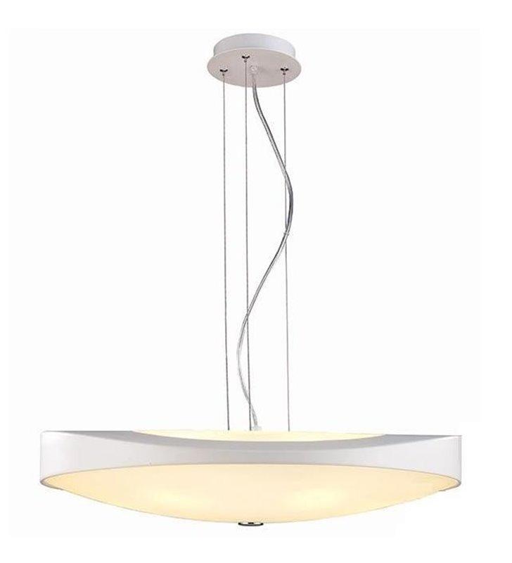 Lampa wisząca Campana biała okrągła nad stół do jadalni do sypialni salonu kuchni