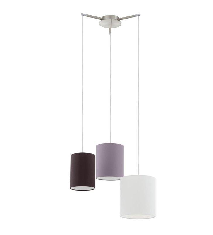 Lampa wisząca Tombolo potrójna z 3 abażurami