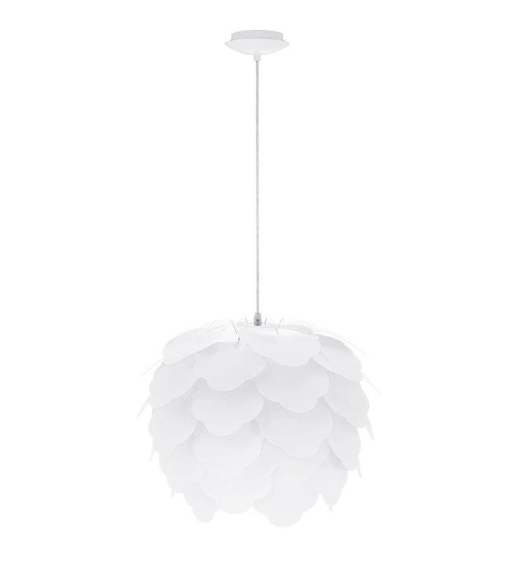 Lampa wisząca Filetta biała klosz szyszka