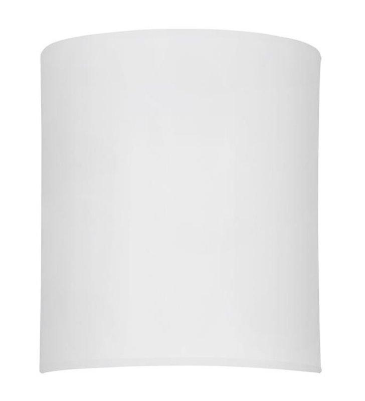 Kinkiet Alice White biały prostokątny materiałowy