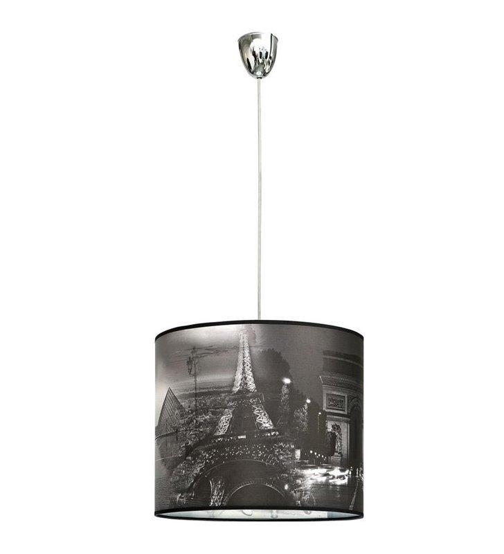 Lampa wisząca Pari z Paryżem Wieżą Eiffla do pokoju nastolatka kuchni salonu sypialni przedpokoju
