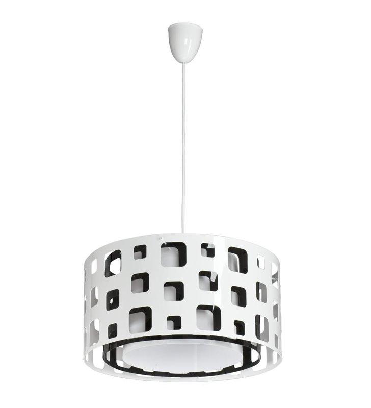 Lampa wisząca Mallow biało czarna nowoczesna - DOSTĘPNA OD RĘKI