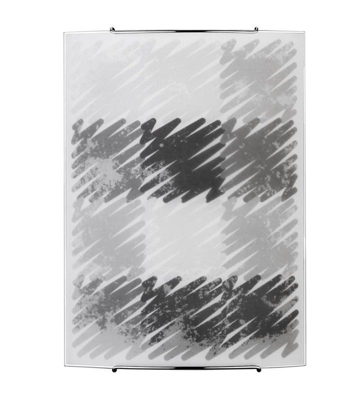 Kinkiet Zigzak nowoczesny szklany czarno szary - DOSTĘPNY OD RĘKI