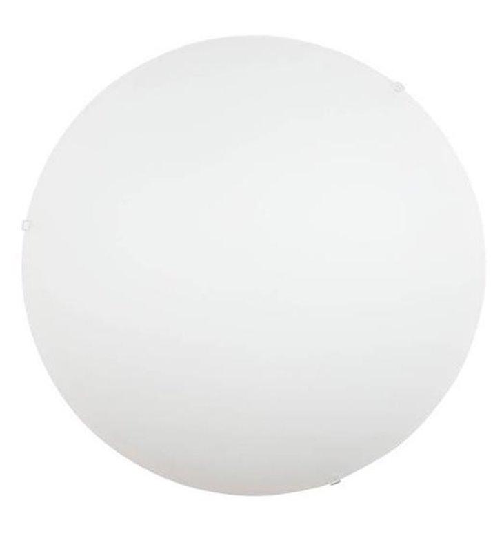 Biały szklany plafon Classic 50cm