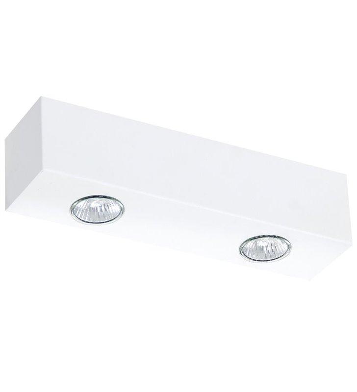 Lampa sufitowa Brasco biała podłużna 2 punktowa