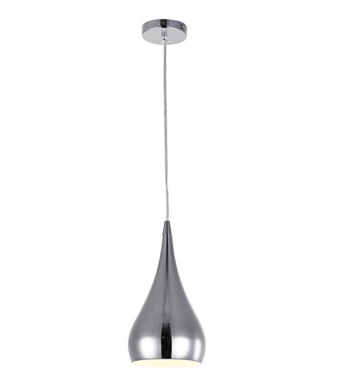 Lampa wisząca Elba metalowa chromowana klosz kropla