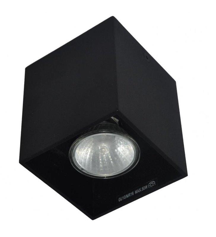 Lampa sufitowa Spot Square downlight czarna kostka nieruchoma