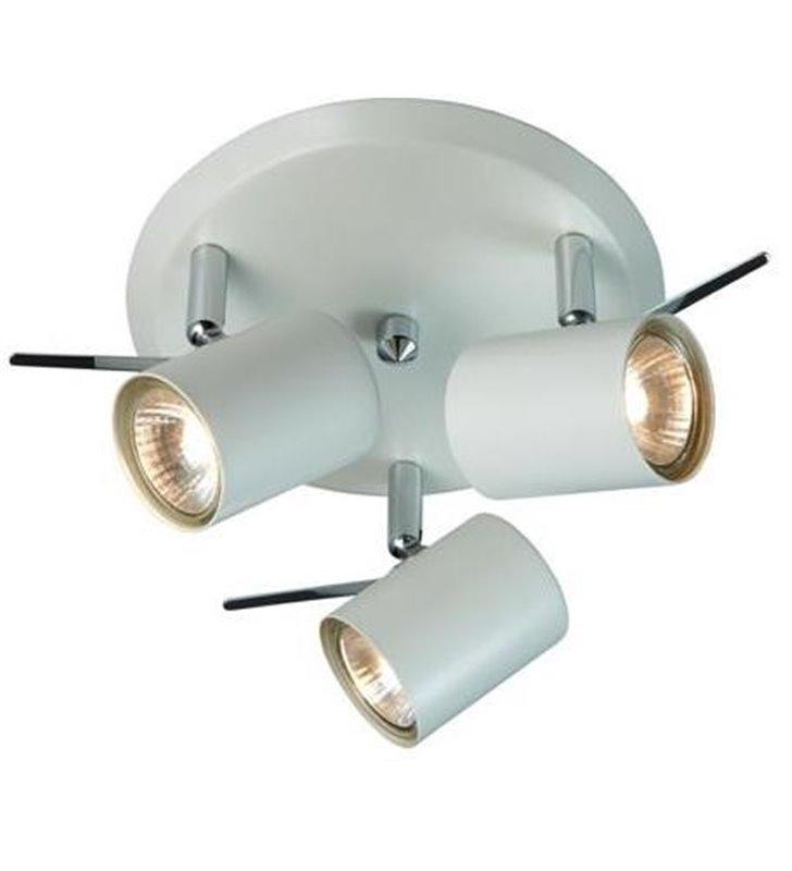 Lampa sufitowa do łazienki Hyssna biała 3 klosze LED