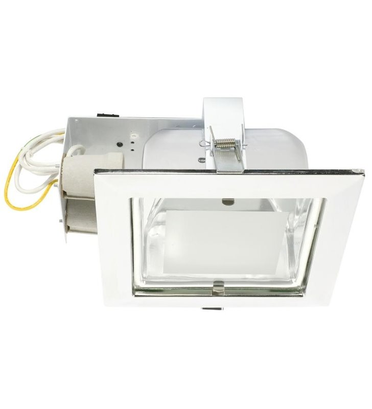Lampa sufitowa Downlight kwadratowa podtynkowa chrom