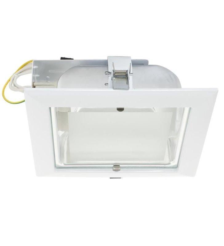Lampa sufitowa Downlight biała kwadratowa do wbudowania - DOSTĘPNA OD RĘKI