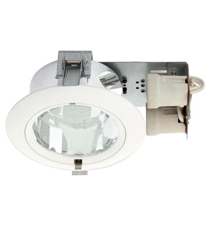 Lampa sufitowa Downlight biała okrągła do wbudowania